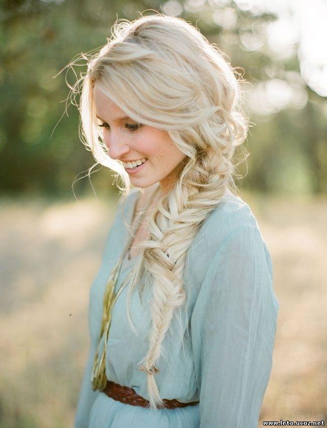 Прически на длинные волосы блондинкам
