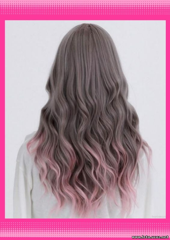 White ombre hair tumblr