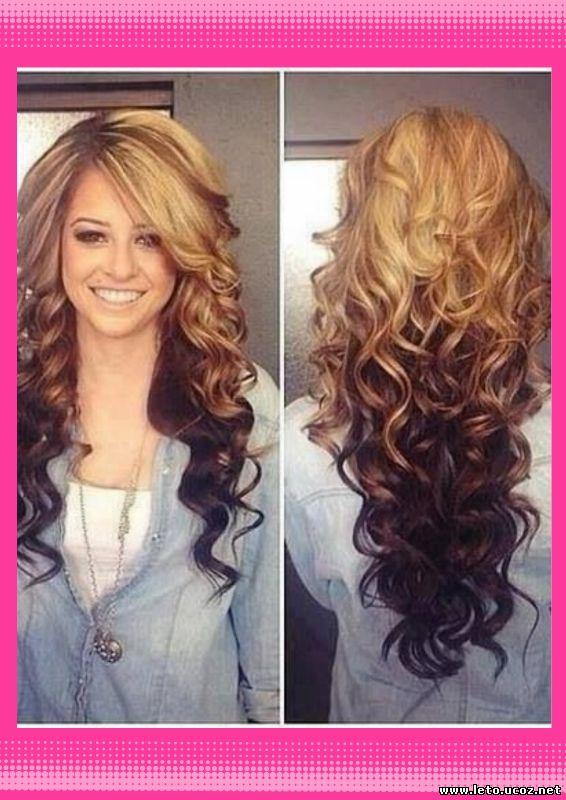 окраска длинных волос фото